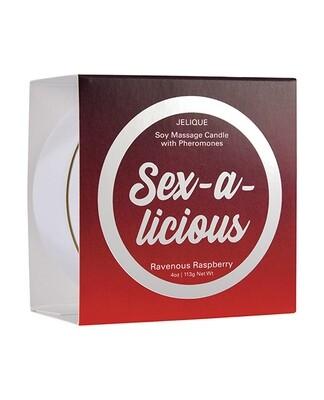 Sex-A-Licious Massage Candle - Ravenous Raspberry