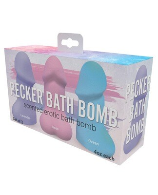 Pecker Bath Bomb Scented Erotic Bath Bomb Set of 3