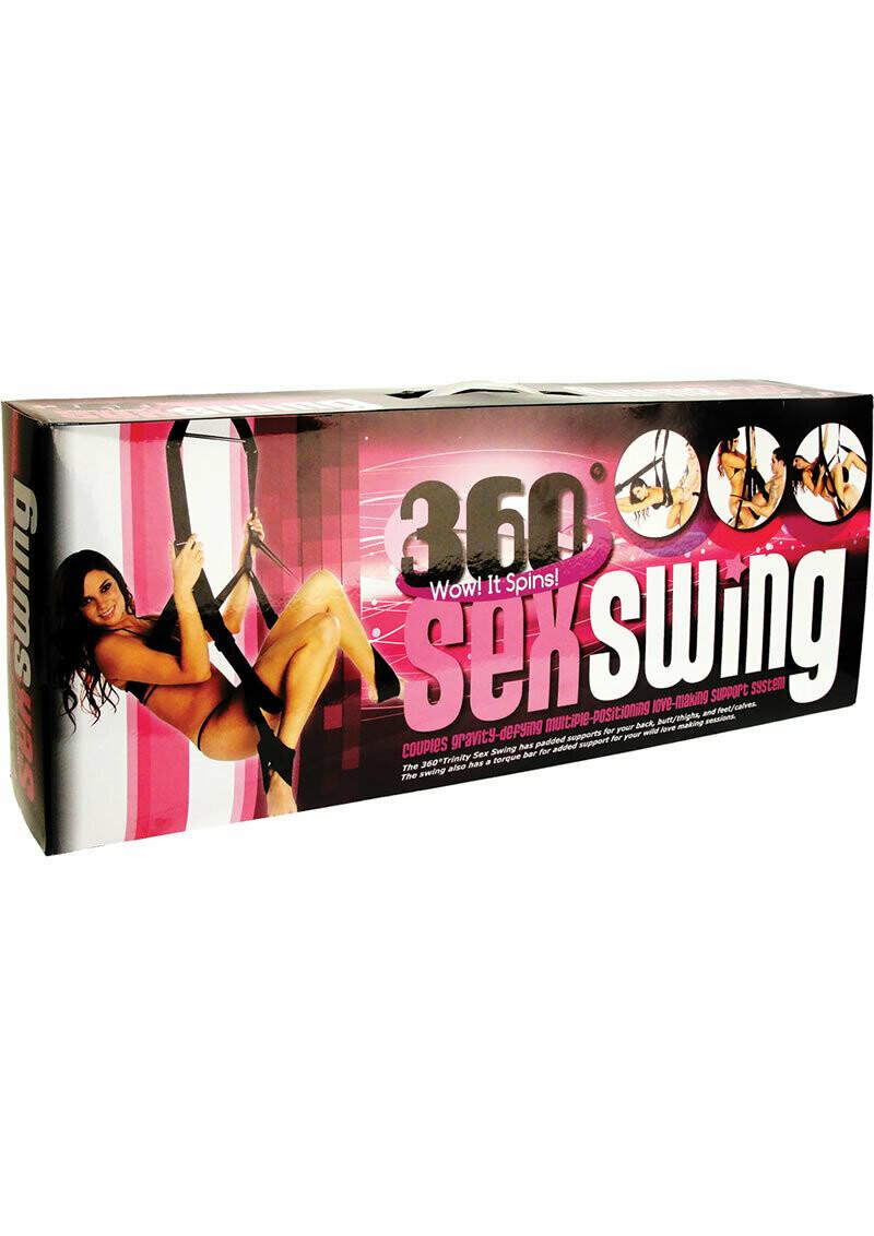 Trinity Vibes 360 Spinning Sex Swing - Black