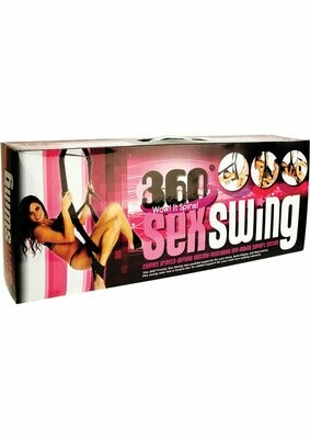 Trinity Vibes 360 Spinning Sex Swing - Black