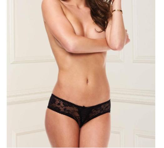 Baci Lace Black Crotchless Panty
