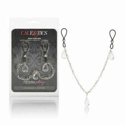 Nipple Play Non Piercing Nipple Chain Jewelry - Crystal
