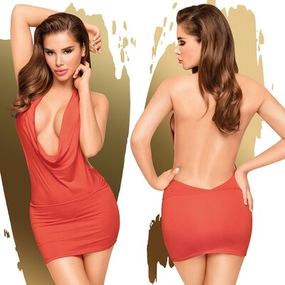 Penthouse Heart Rob Mini Dress With Thong - Red