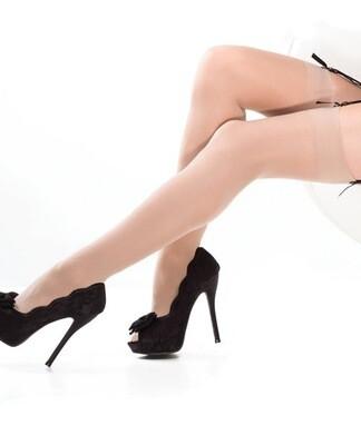 Sheer Thigh High Stockings Nude