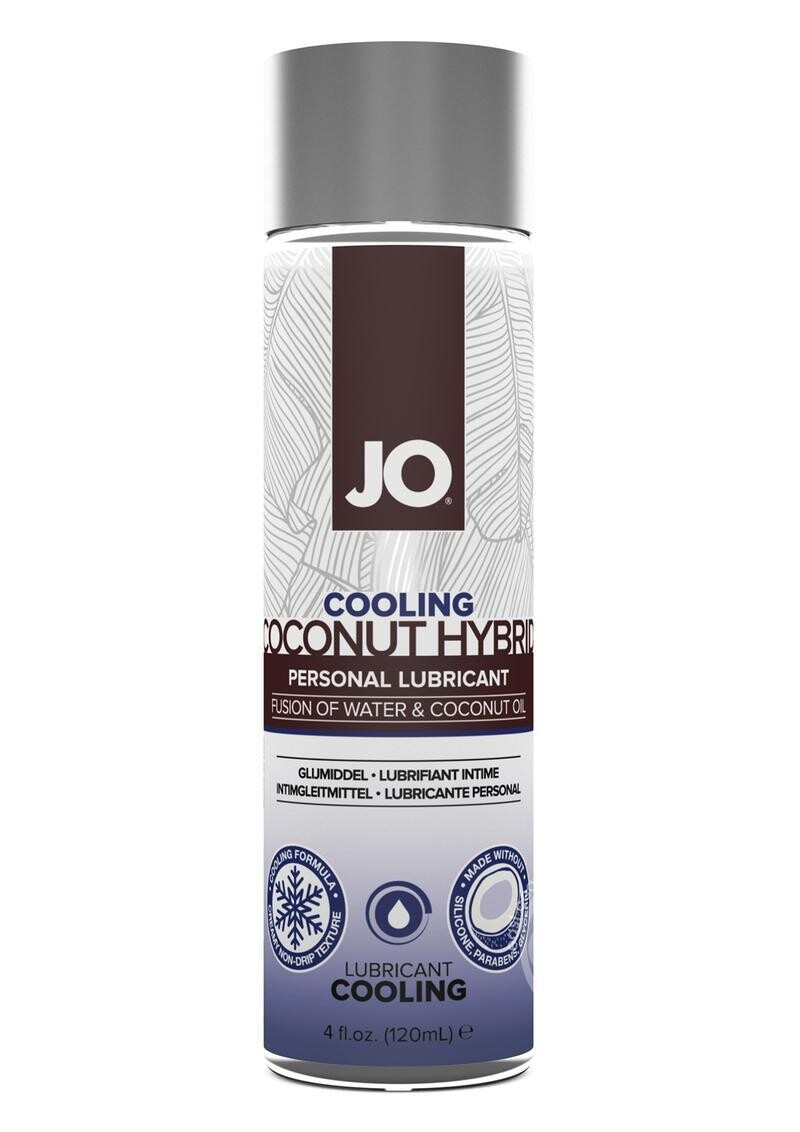 Silicone Free Hybrid Personal Cooling Lubricant Water And Coconut Oil 4 Ounce