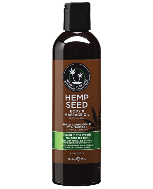 Hemp Seed Massage And Body Oil Naked in the Woods