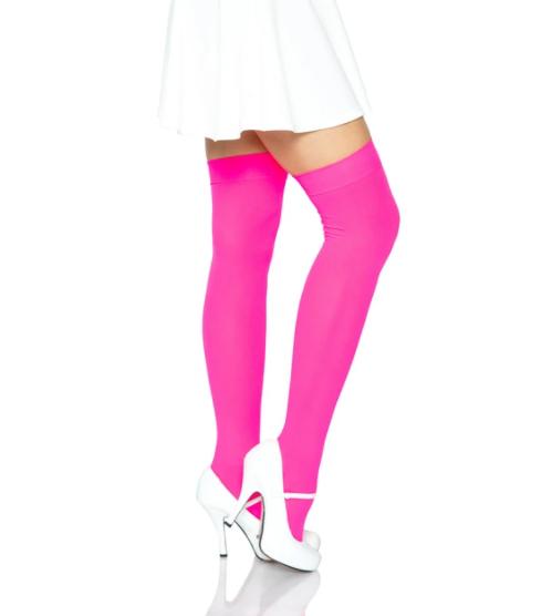 Luna Thigh High Stockings - Pink