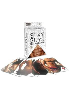 Sexy Guys Playing Cards