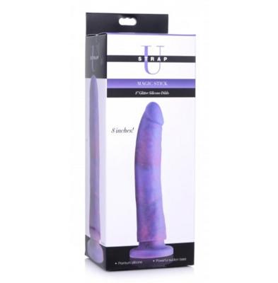 """Strap U Magic Stick Glitter Silicone Dildo 8"""""""