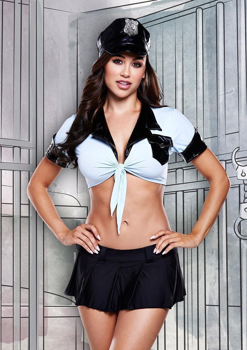 Ms. Officer Costume & Mini Skirt