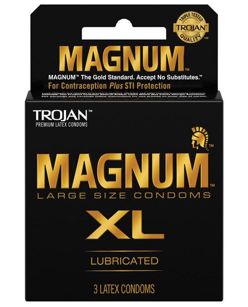 Trojan Magnum Xl Lubricated Latex Condoms 3 PK