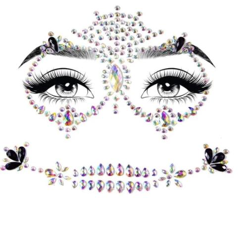 Calavera adhesive face jewels