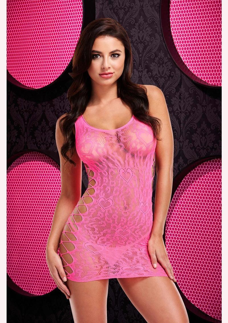 Pink Leopard Mini Tank Dress