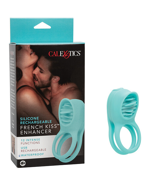 French Kiss Enhancer Silicone Rechargeable Cock Ring
