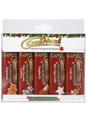 GoodHead Oral Delight Gel - Holiday 5 Pack