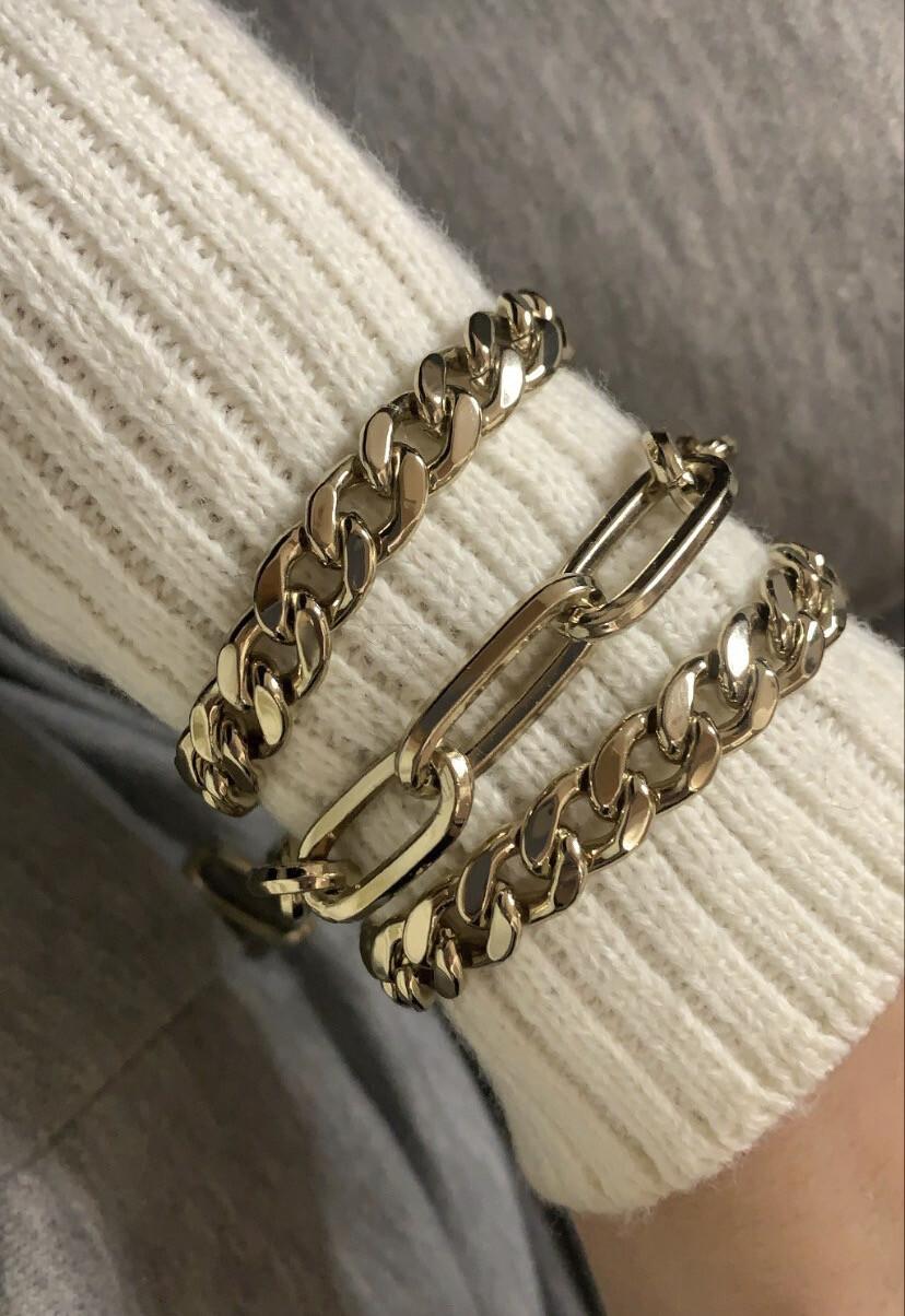 Bracciale catena ottone dorato