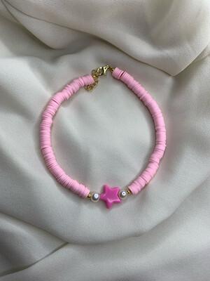 Cavigliera argento + rosa
