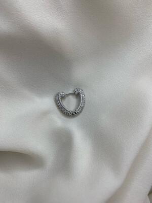 Orecchino cuore argento