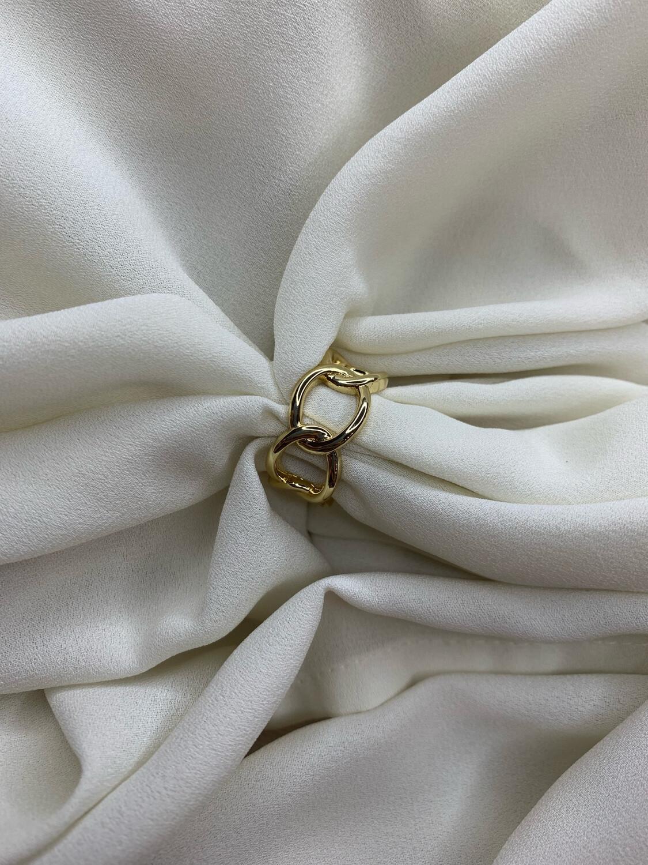 Anello catena dorato