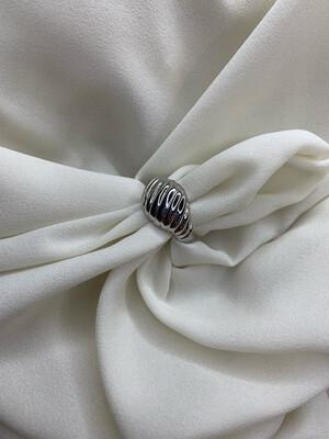 Anello croissant argento