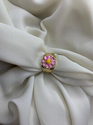 Anello Margherita rosa