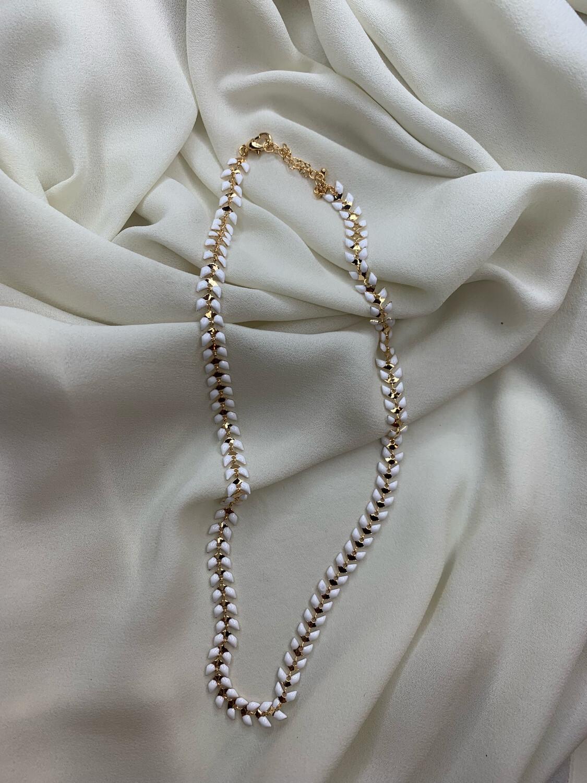 Collana spiga bianca