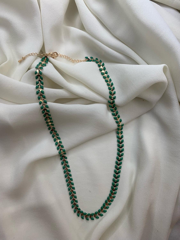 Collana spiga verde