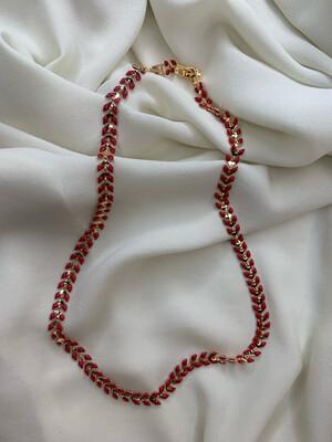 Collana spiga rossa