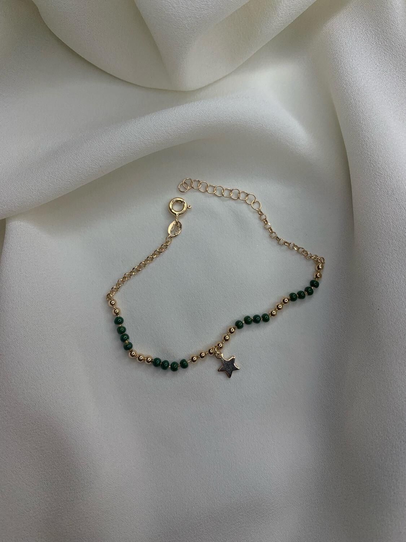 Bracciale stella verde