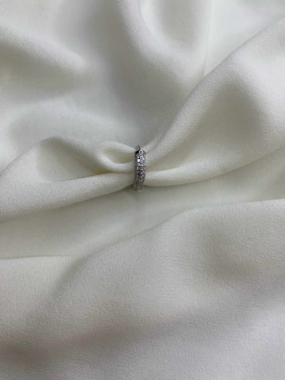 Hoop mini pavè argento