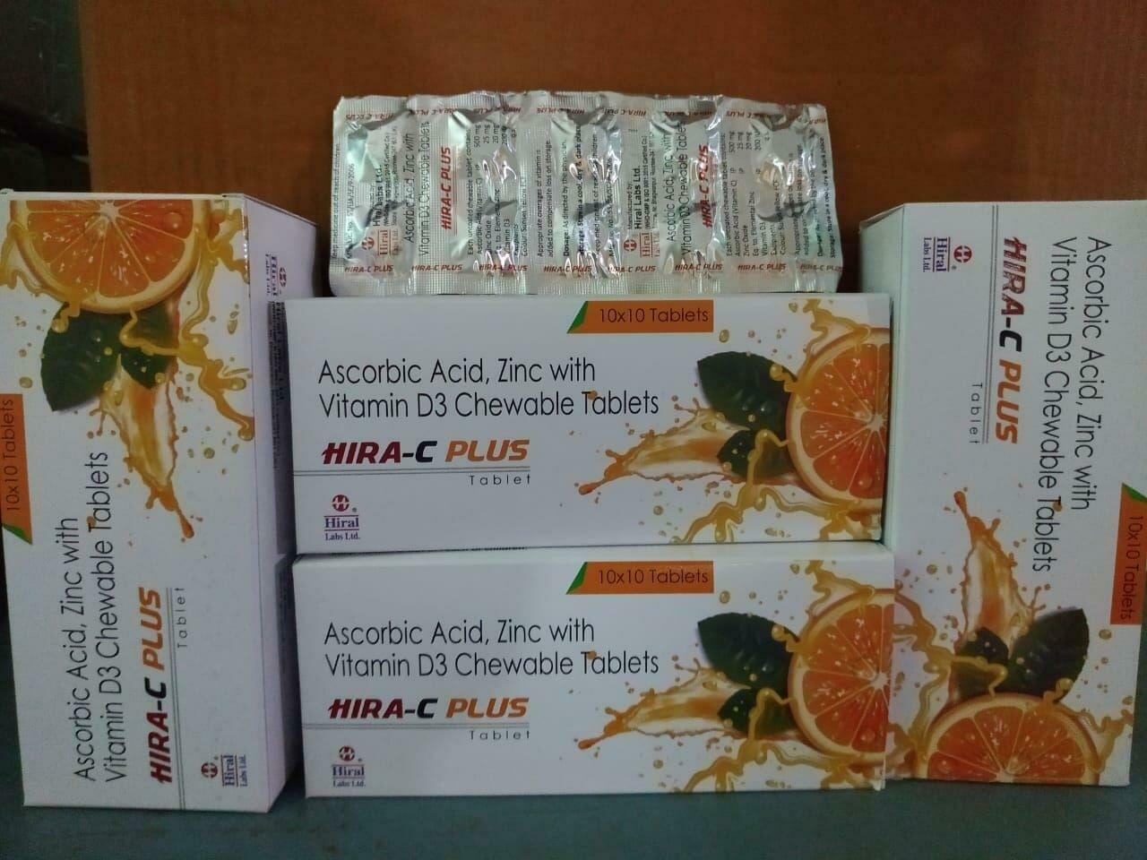ASCORBIC ACID +  ZINC + VITAMIN  D3 CHEWABLE TABLETS