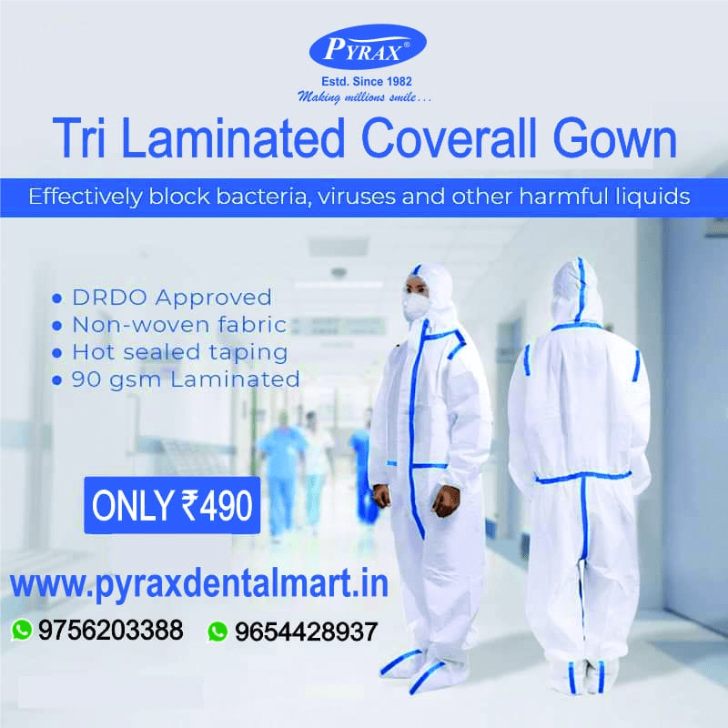TRI-LAMINATED COVERALL GOWN