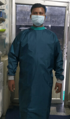50-50 COOL COTTON & FRONT LAMINATED REUSABLE SURGEON GOWN