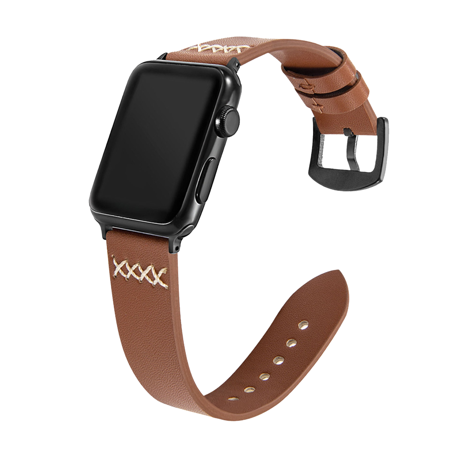 Hand-stitched Leather Strap for Apple Watch 42mm / 44mm - Brown