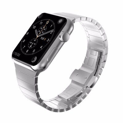 Solid Stainless Steel Bracelet for Apple Watch 42mm / 44mm - Silver