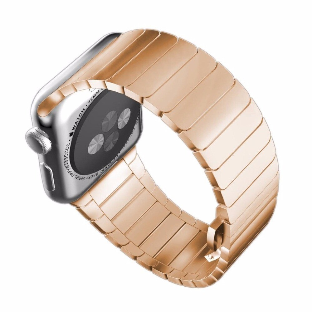 Solid Stainless Steel Bracelet for Apple Watch 42mm / 44mm - Rose