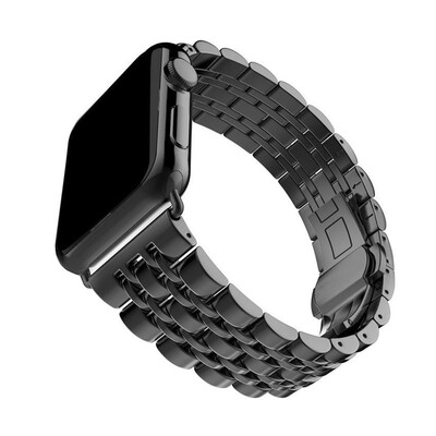 Stainless Steel Bracelet for Apple Watch 42mm / 44mm - Black