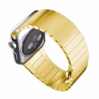 Solid Stainless Steel Bracelet for Apple Watch 42mm / 44mm - Gold