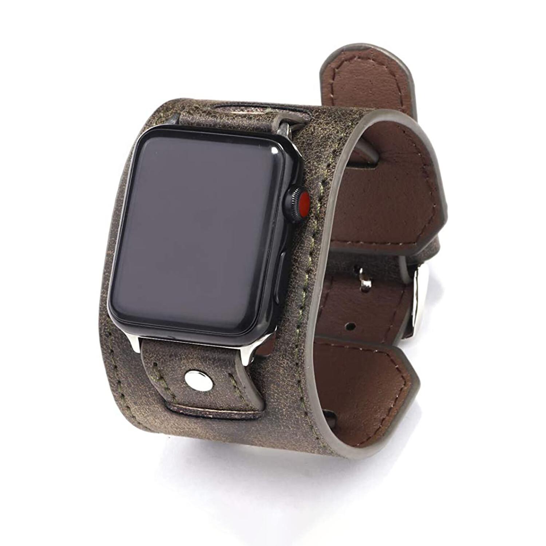 Leather Cuff Bracelet for Apple Watch 42mm / 44mm - Grey