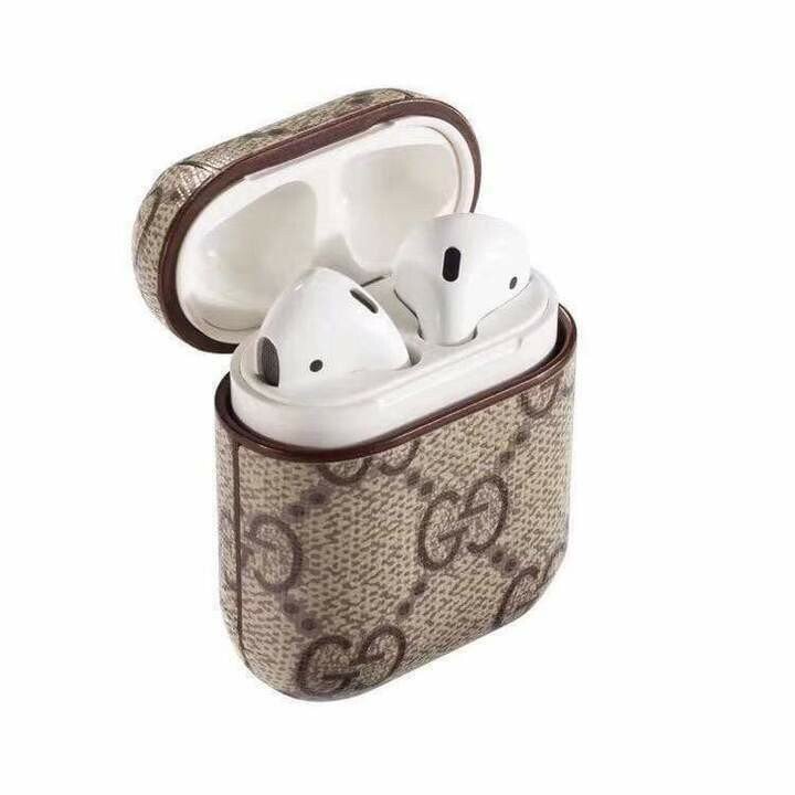 GUCCI Style AirPods 1/2 Classic Leather Protective Case