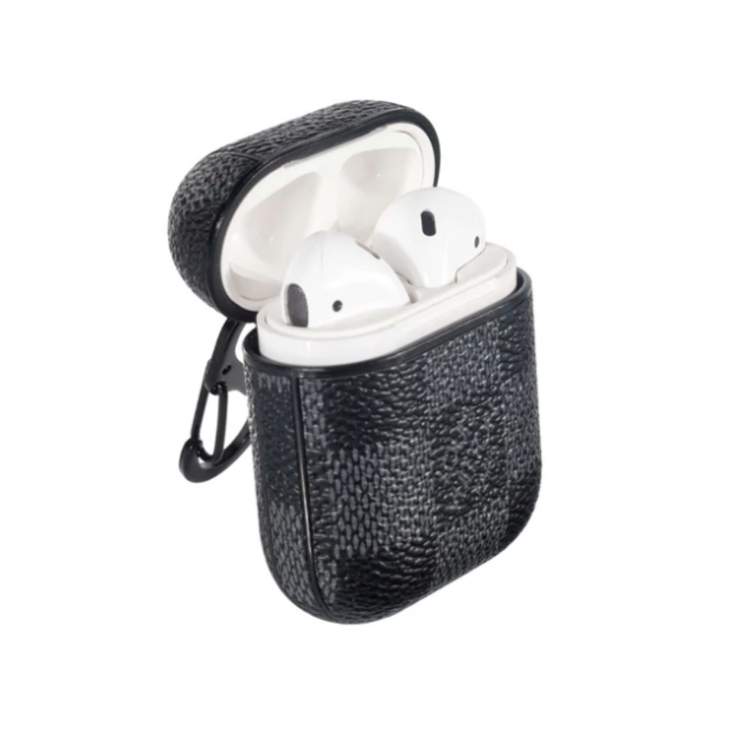 LV Leather Shockproof AirPods 1/2 Case