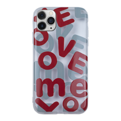 """""""LOVE"""" Word Clear Case"""