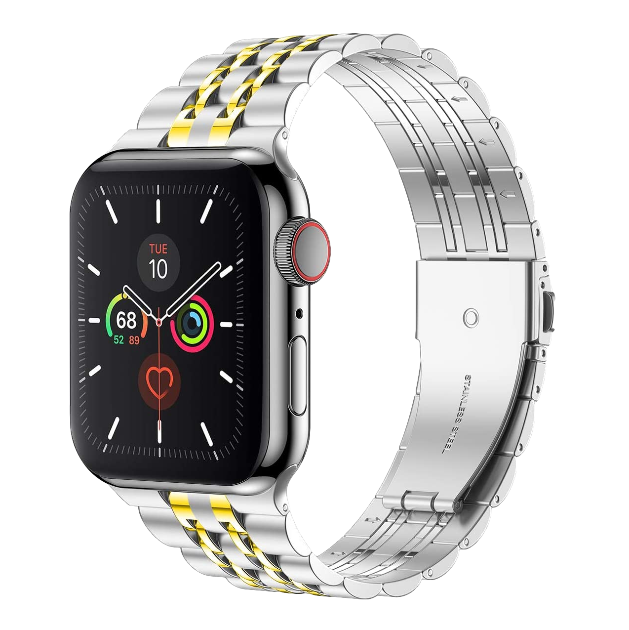 Stainless Steel Bracelet for Apple Watch 42mm / 44mm - Silver x Gold