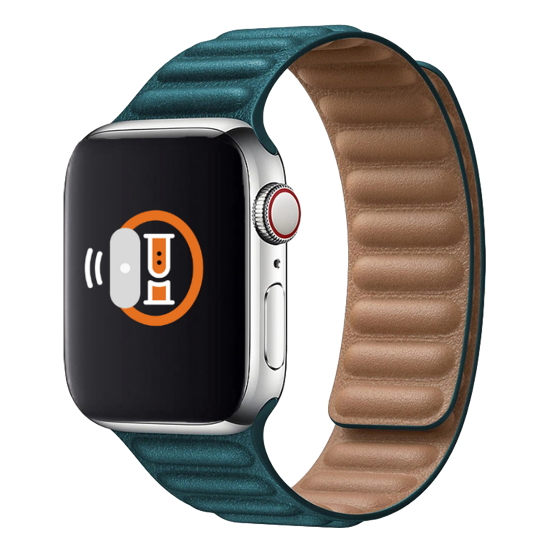 Leather Link Band for Apple Watch 42mm / 44mm - Green