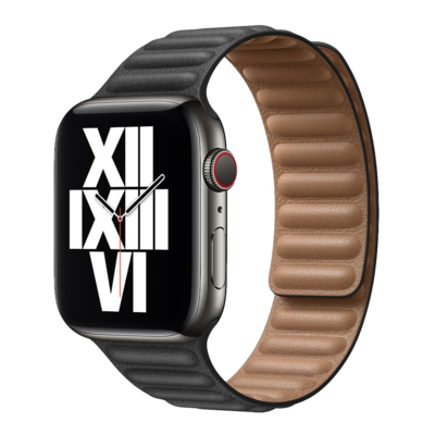 Leather Link Band for Apple Watch 42mm / 44mm - Black