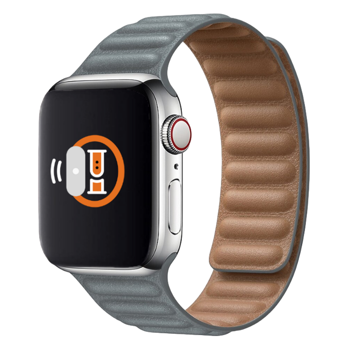 Leather Link Band for Apple Watch 42mm / 44mm - Grey
