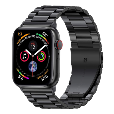 Solid Stainless Steel Band for Apple Watch 42mm / 44mm - Black