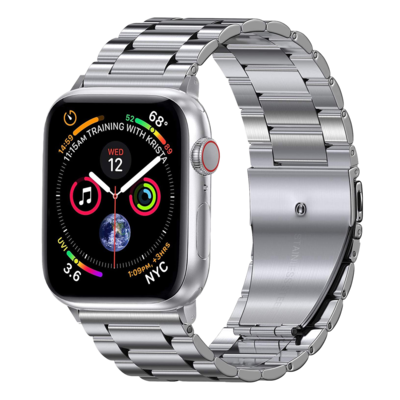 Solid Stainless Steel Band for Apple Watch 42mm / 44mm - Silver