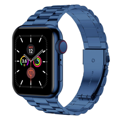 Solid Stainless Steel Band for Apple Watch 42mm / 44mm - Blue