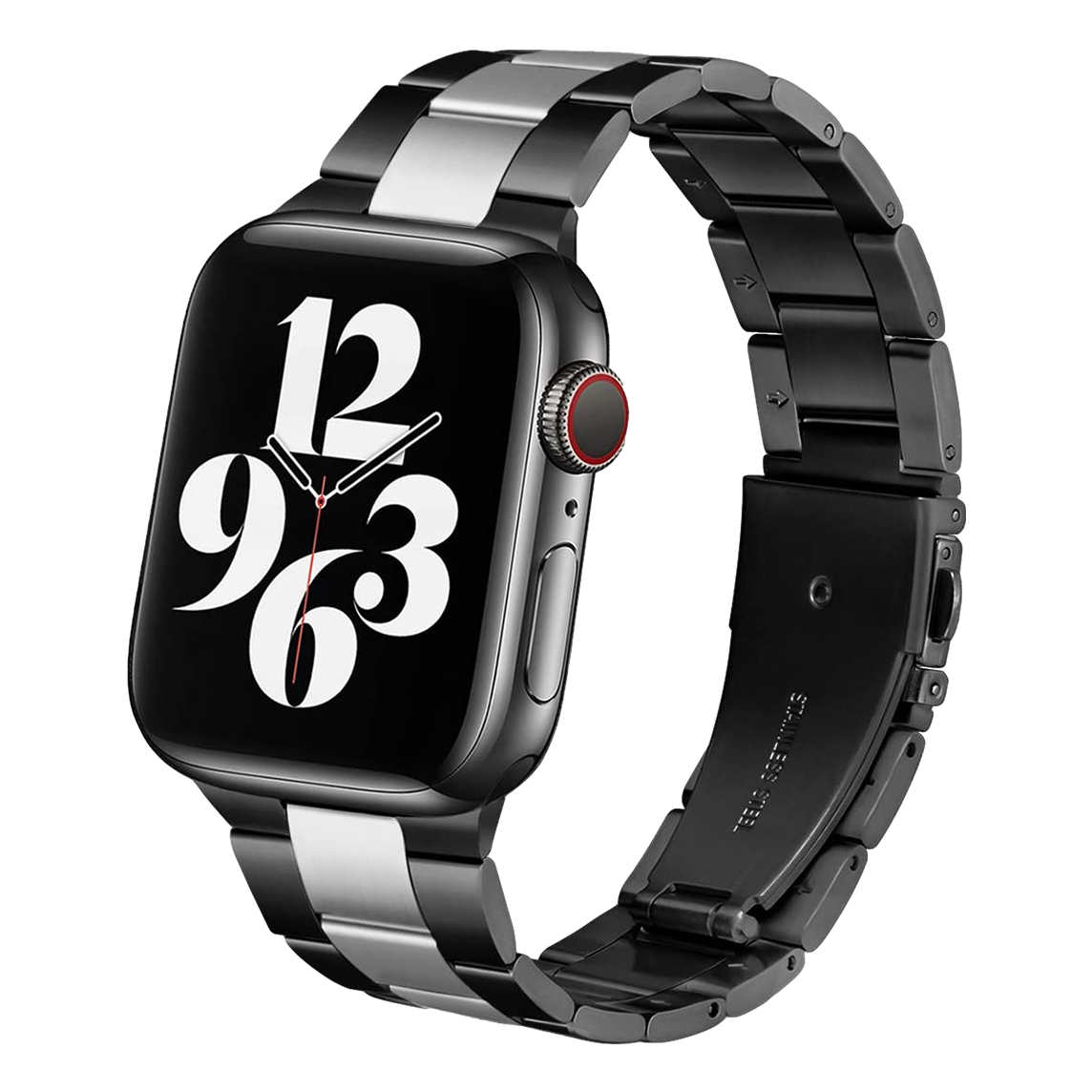 Solid Stainless Steel Band for Apple Watch 42mm / 44mm - Black x Silver